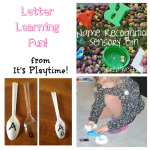 Alphabet Play Ideas [from It's Playtime!]