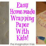 Easy Homemade Wrapping Paper with Kids