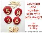 Counting and Maths Skills with Play Dough!