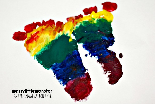 rainbow footprints