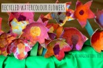 Painted Fruit Box Flowers
