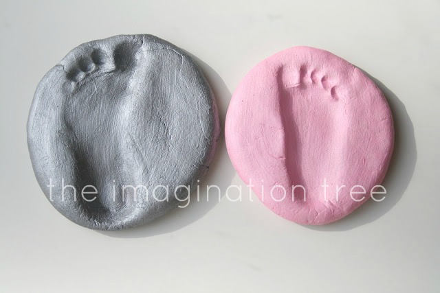 Salt Dough Footprint Keepsakes