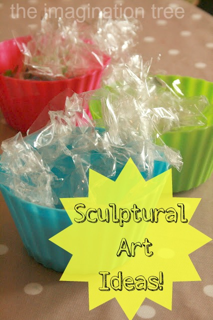 Sculptural Art Ideas for Kids [from It's Playtime]