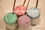Shaving Cream Bath Paint!