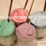 Shaving Cream Bath Paint!