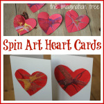 Spin Art Heart Cards for Valentines Day
