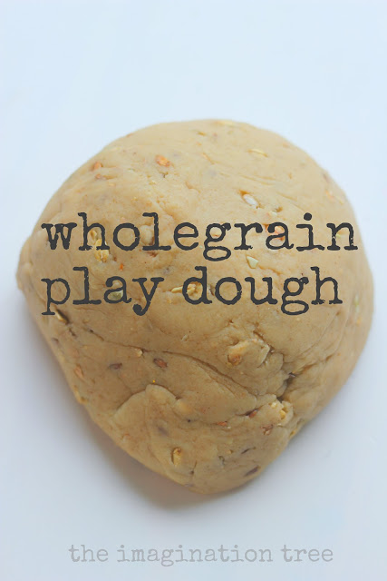 Wholegrain Play Dough Recipe and Bakery Role-Play