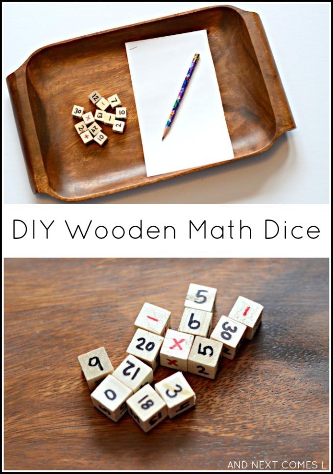 DIY Wooden Maths Dice