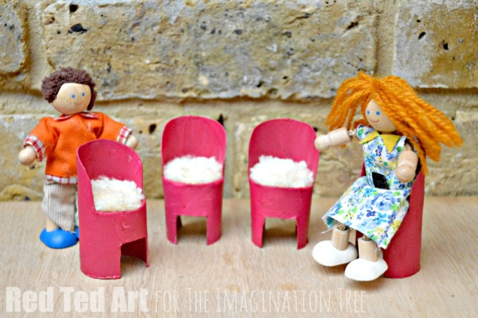 DIY Doll's House Chairs