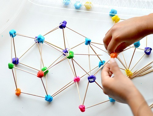 rainbow engineering with marshmallow structures