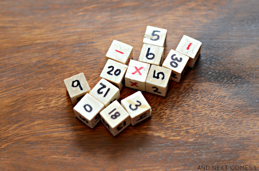 DIY wooden dice from And Next Comes L
