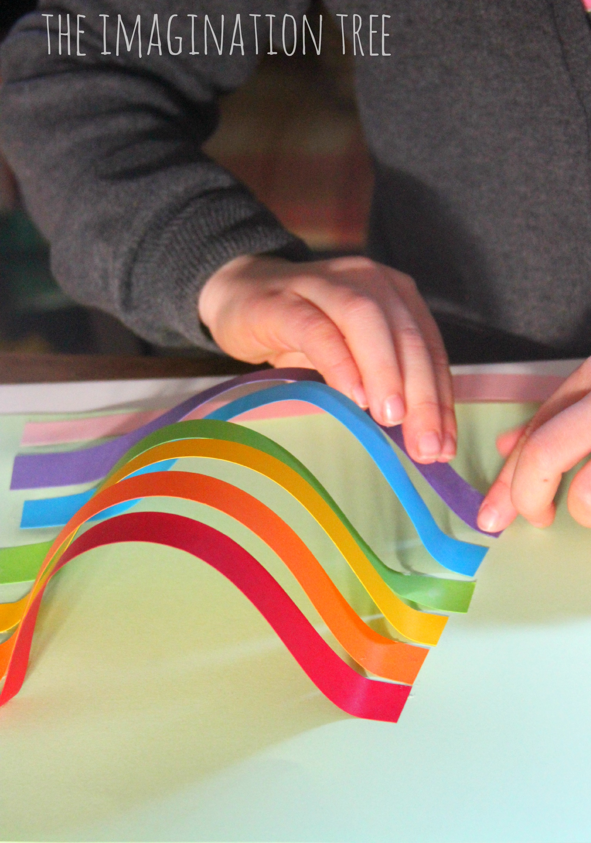 Rainbow Paper Sculpture Craft The Imagination Tree