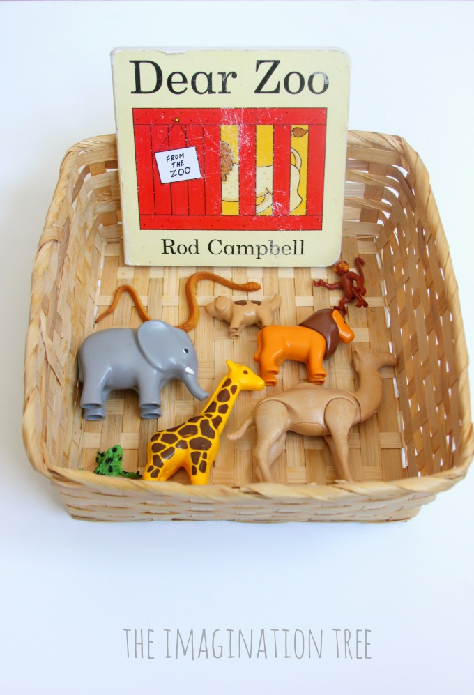 Dear Zoo  storytelling basket