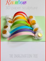 Rainbow paper sculpture