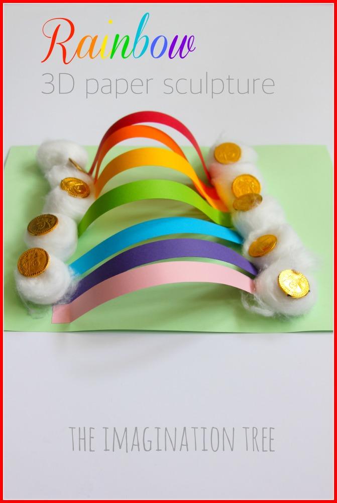 Rainbow Paper Sculpture Craft