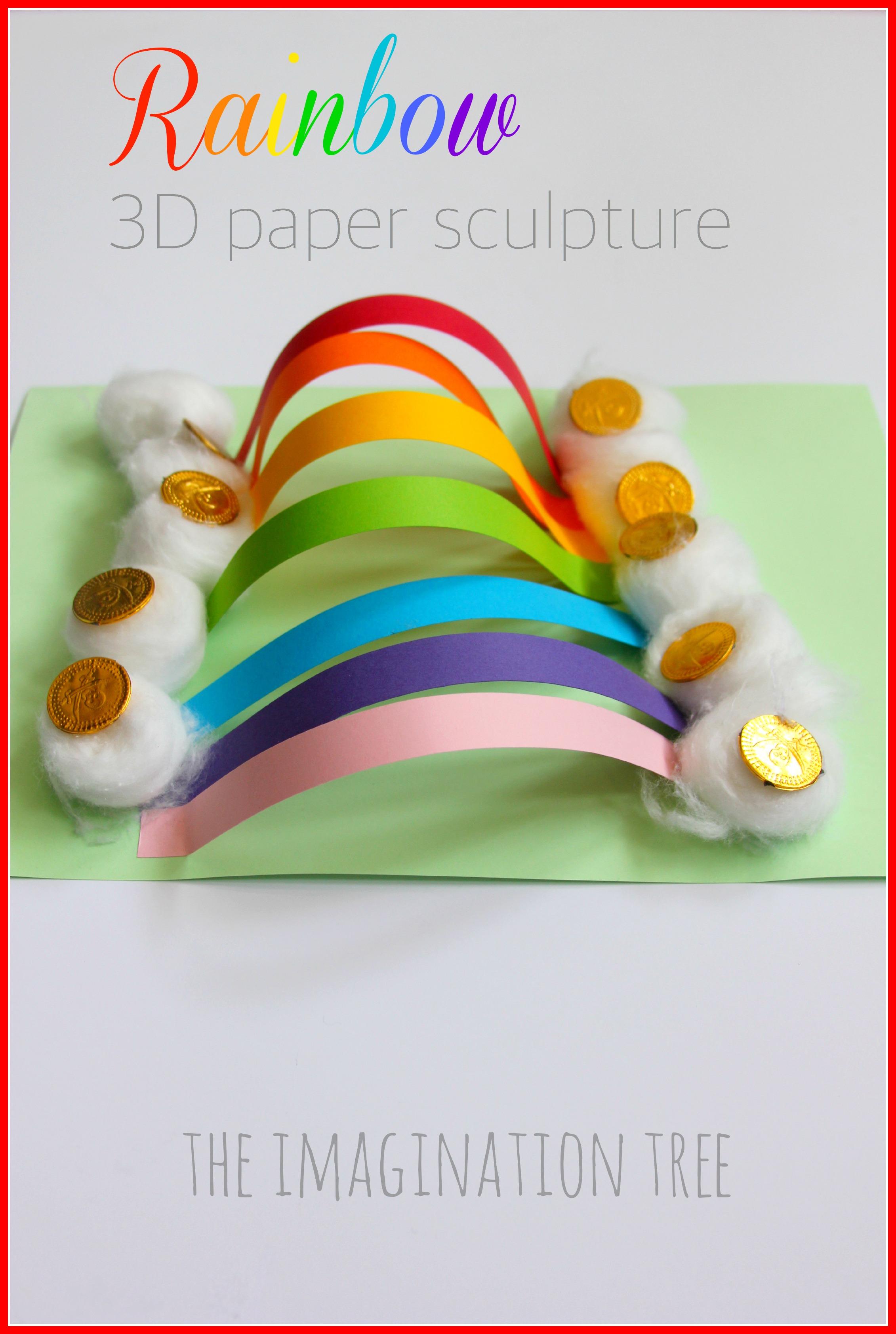 Rainbow Paper Sculpture Craft - The Imagination Tree