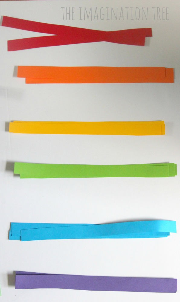 Rainbow paper strips craft