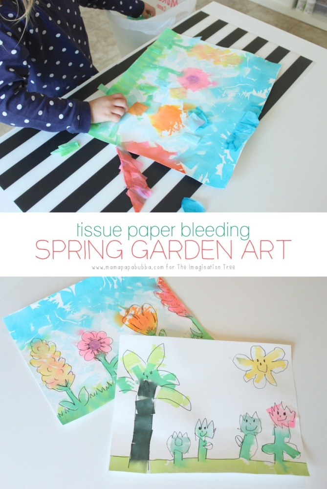 Spring Tissue Paper Bleeding Art