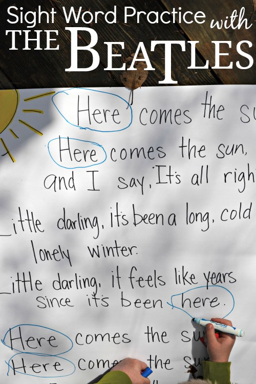 Here Comes the Sun- Beatles Sight Word Practise