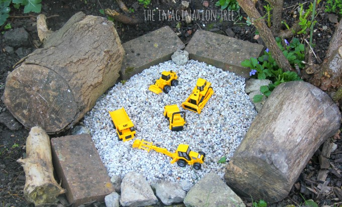 Construction site gravel pit for kids