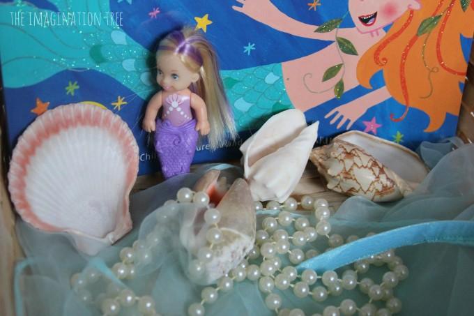 Mermaid storytelling basket