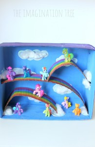My little pony rainbow small world play box