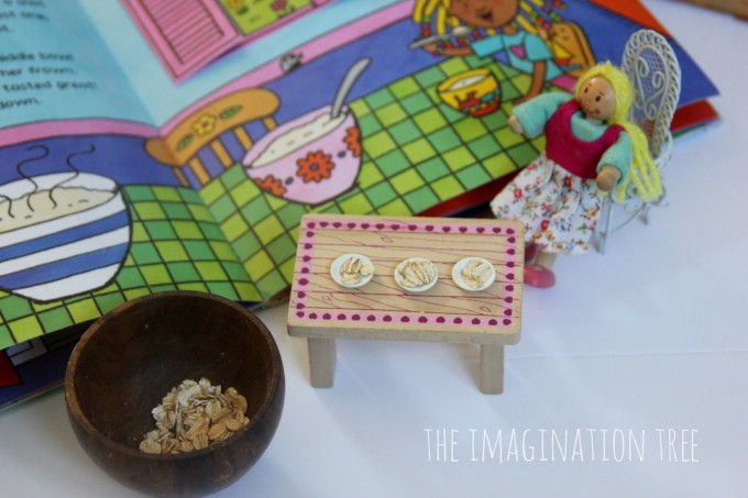 Porridge oats in a Goldilocks storytelling basket