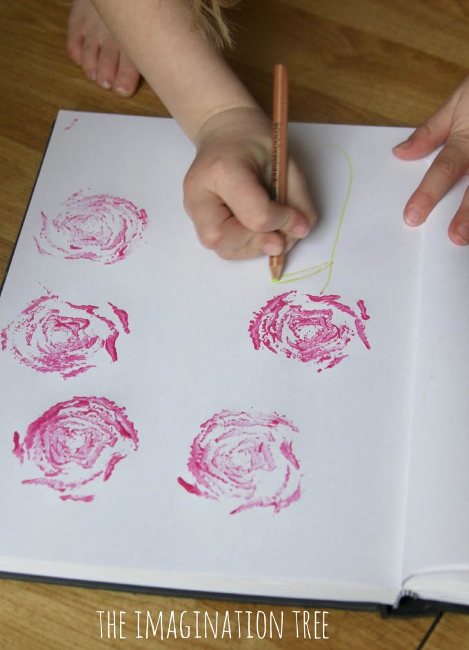 Printed rose art