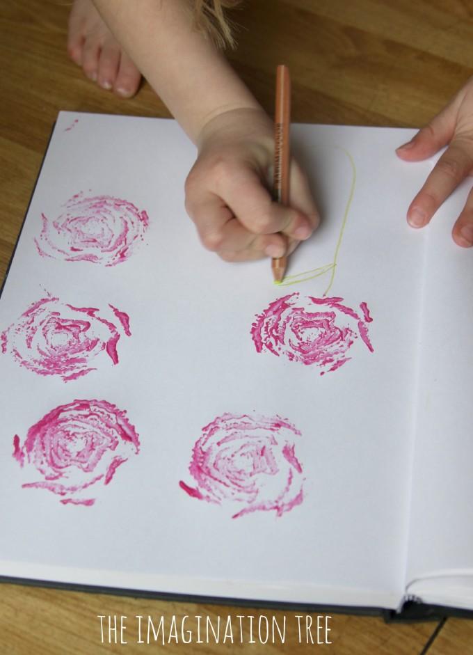 Printed rose art