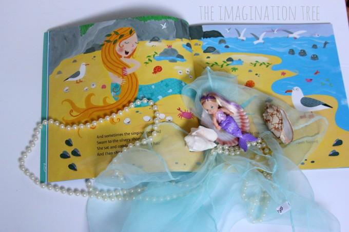 The singing mermaid storytelling basket