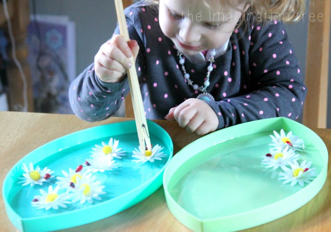 Toddler Spring themed montessori tray