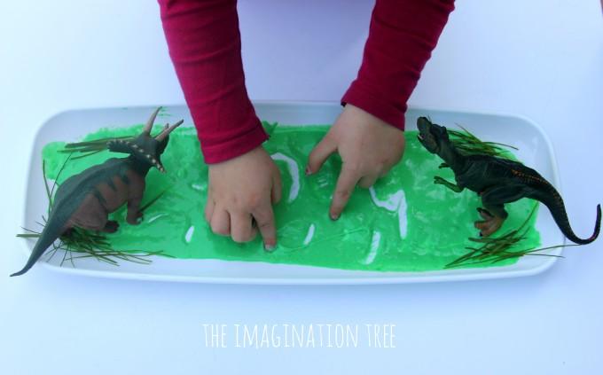Writing in a dinosaur swamp
