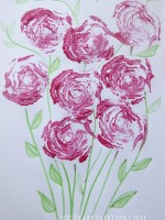 celery printed rose art