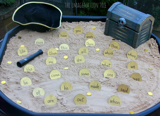 Pirate doubloon sight word dig!