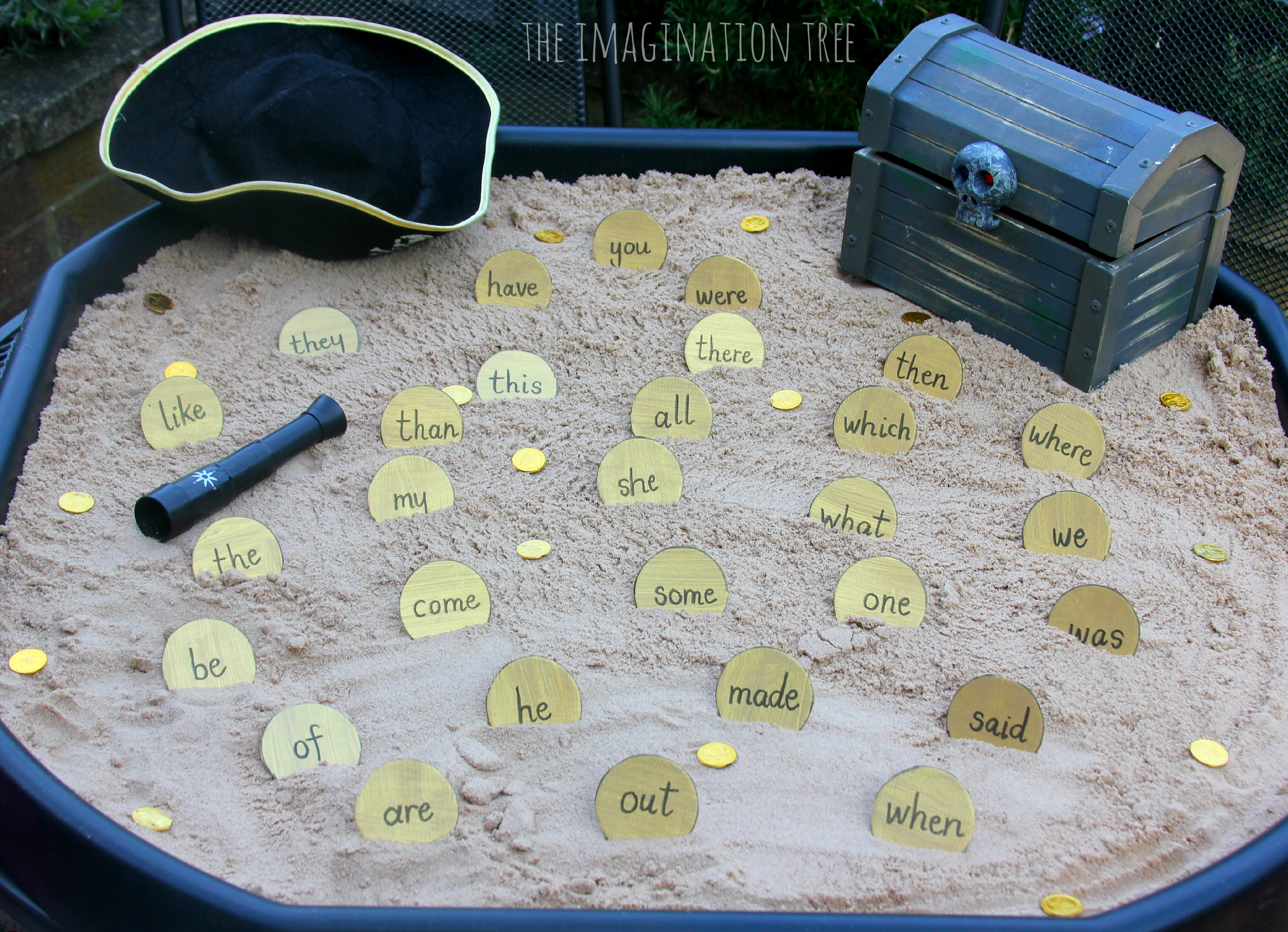 Sight Word Activity Pirate Doubloons Treasure Hunt The