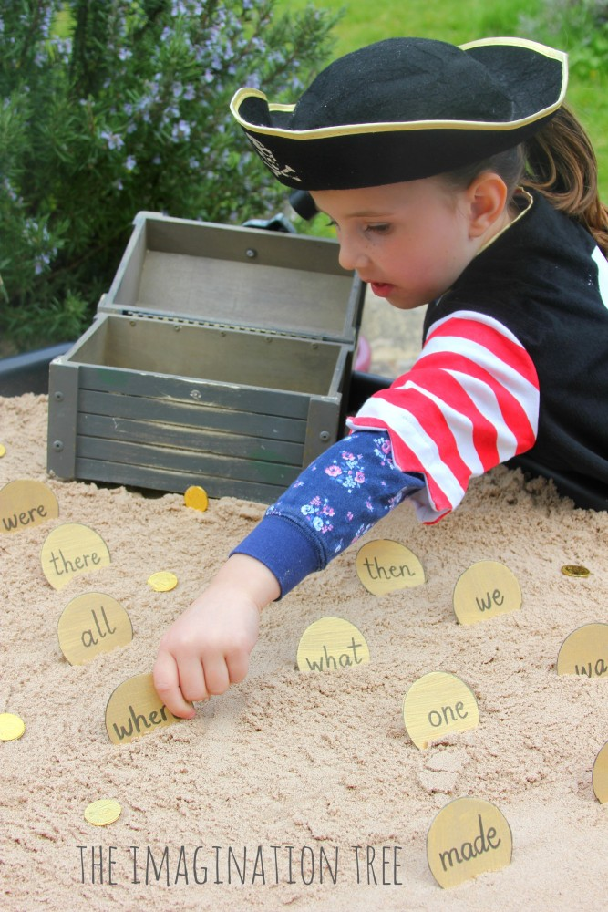 Pirate sight words treasure hunt literacy activity