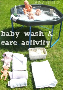 Baby wash and care activity for preschoolers
