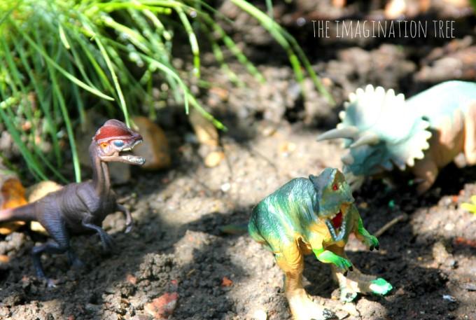Dinosaur outdoor small world play