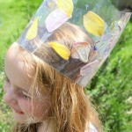 Laminated Flowers Crown and Art