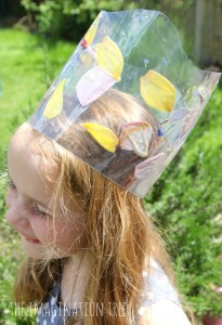 Flower petals crown