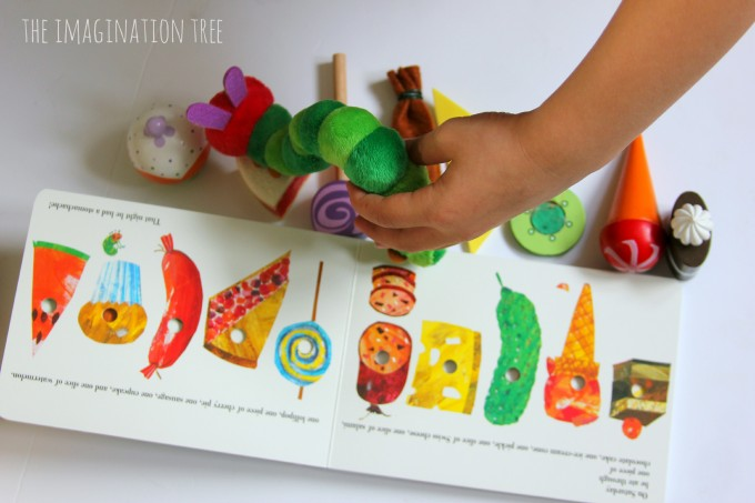 Hungry caterpillar story props basket