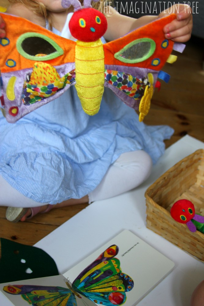 Hungry caterpillar storytelling basket