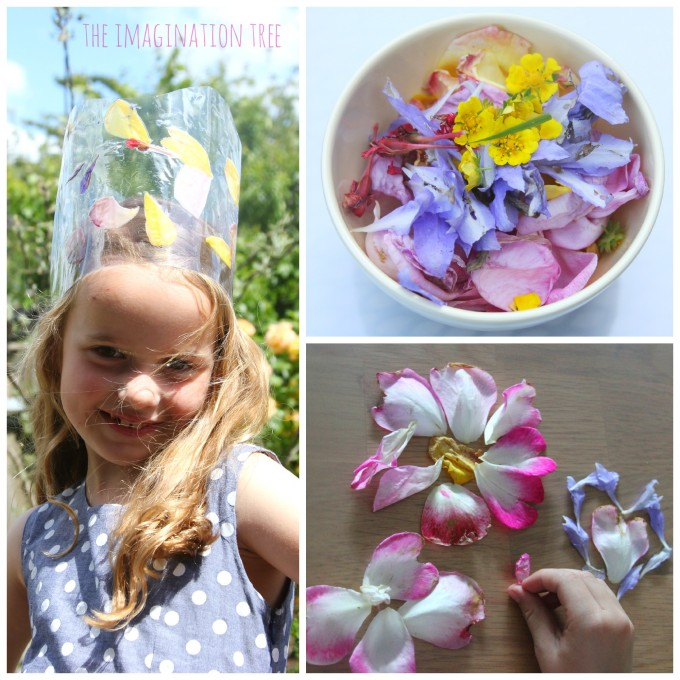 Laminated flower crown and petal pictures