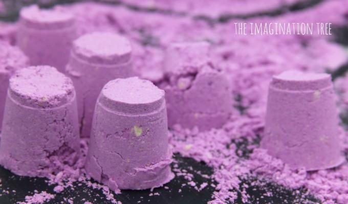 Lavender cloud dough