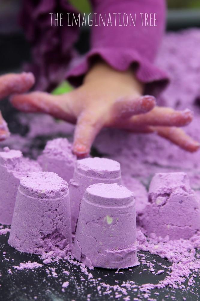 Lavender scented cloud dough