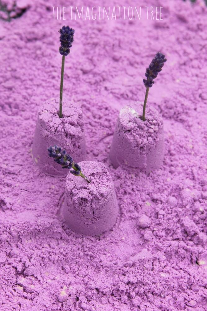 Lavender scented cloud dough recipe