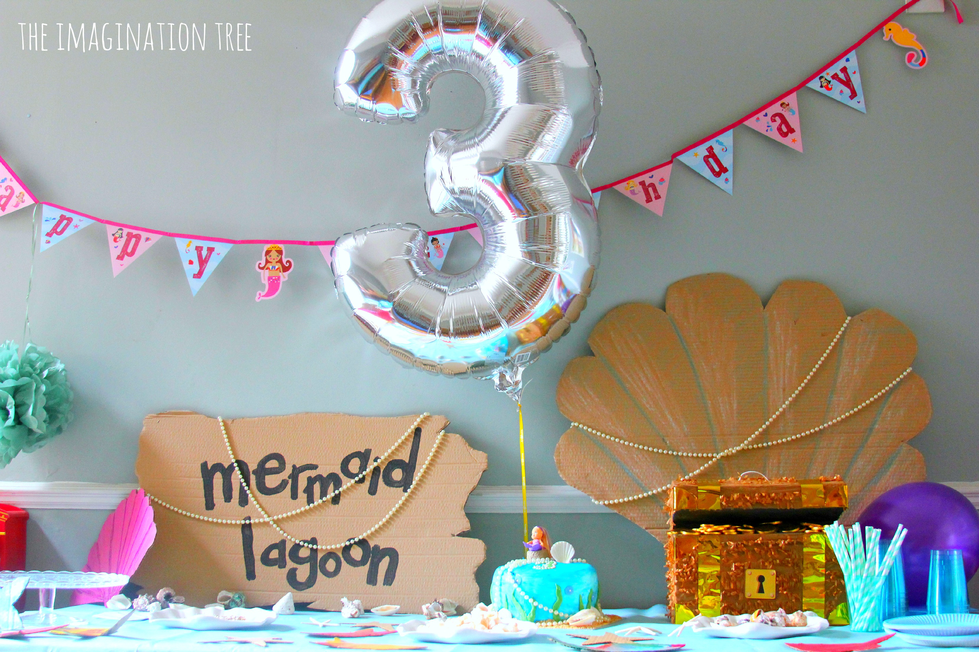 Mermaid Birthday Party Ideas - The Imagination Tree for Decoration Ideas For Birthday Party At Home Kids  545xkb