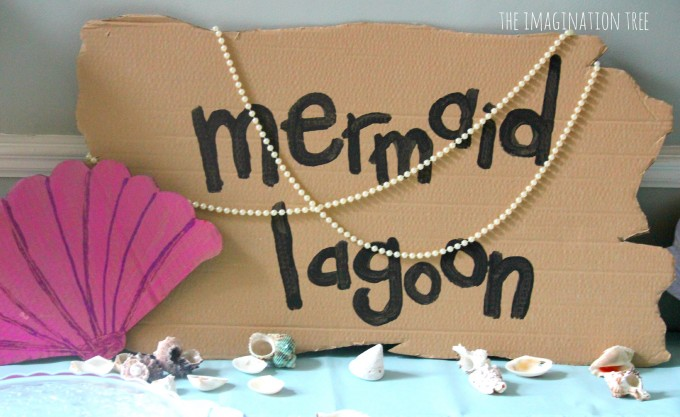 Mermaid lagoon party sign