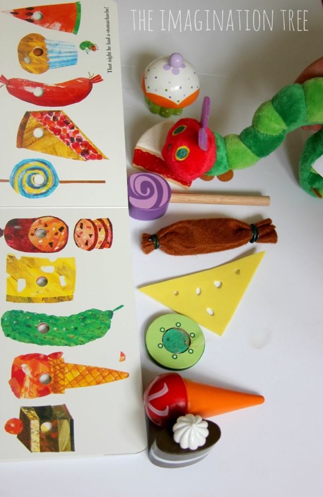 The Very Hungry Caterpillar storytelling props