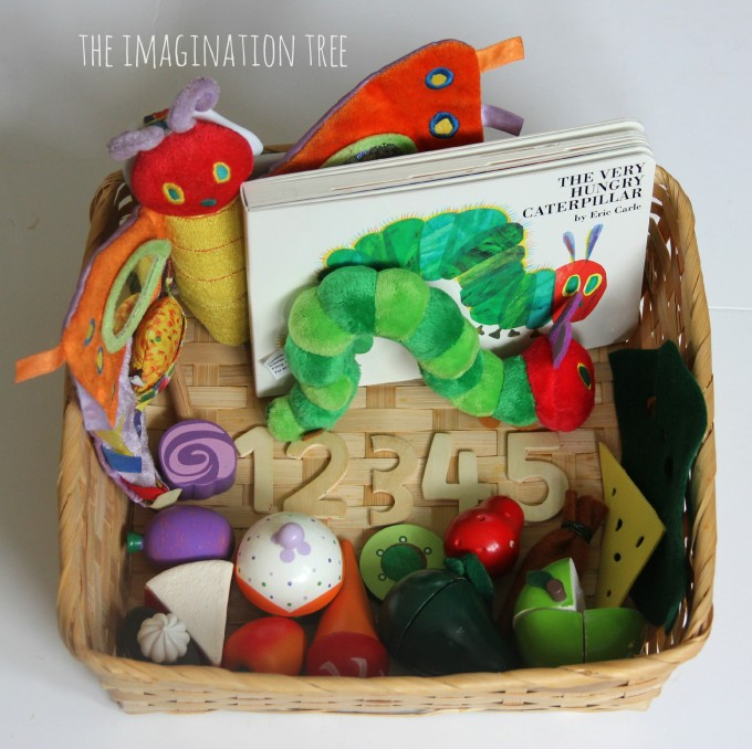 The very hungry caterpillar story telling basket
